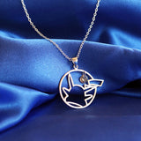 925 Sterling Silver Pokemon Pikachu Inspired Necklace - NerdKudo - 3