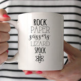 The Big Bang Theory Rock Paper Scissors Lizard Spock 11oz Mug