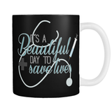 Grey's Anatomy It's A Beautiful Day To Save Lives Mug - NerdKudo - 1