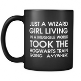 Harry Potter Just A Wizard Girl Living In A Muggle World Mug - NerdKudo - 2