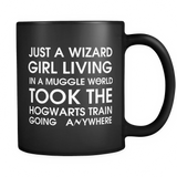 Harry Potter Just A Wizard Girl Living In A Muggle World Mug - NerdKudo - 1