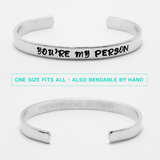 Grey's Anatomy You're My Person Stamped Cuff Bracelet