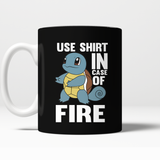 Pokemon Squirtle Use Shirt In Case Of Fire Mug - NerdKudo - 4
