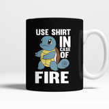 Pokemon Squirtle Use Shirt In Case Of Fire Mug - NerdKudo - 3