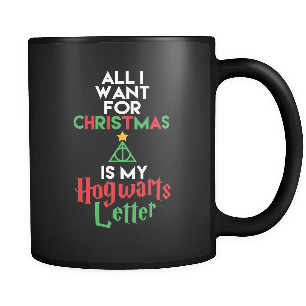 Harry Potter All I Want For Christmas Is My Hogwarts Letter Mug - NerdKudo - 1