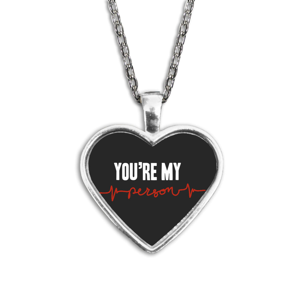 Grey's Anatomy You're My Person Heart Necklace