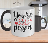Grey's Anatomy You're My Person 11oz Color Changing Mug - NerdKudo - 1