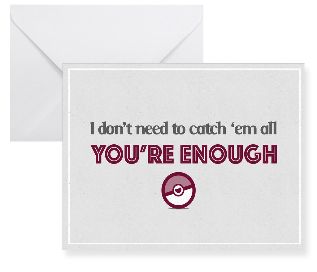 Pokemon You're Enough Greeting Card - NerdKudo - 1