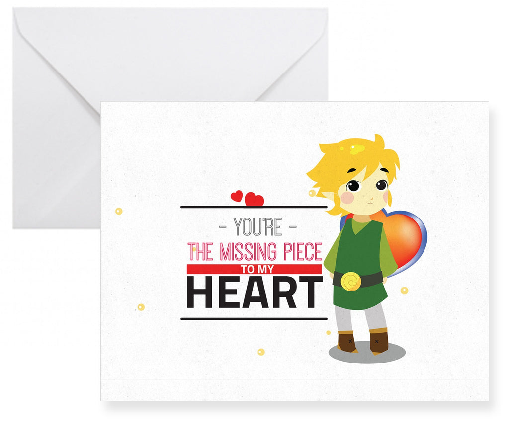 The Legend of Zelda Link Inspired Greeting Card - NerdKudo - 1