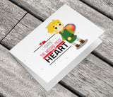 The Legend of Zelda Link Inspired Greeting Card - NerdKudo - 2