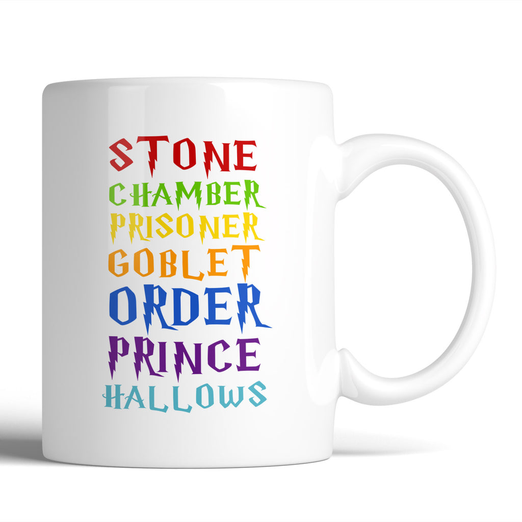 Harry Potter Stone Chamber Prisoner Goblet Order Prince Hallows 11oz Mug