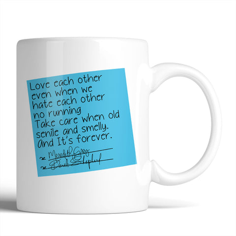 Grey's Anatomy Derek Shepherd & Meredith Grey Vows Post-it 11oz Mug