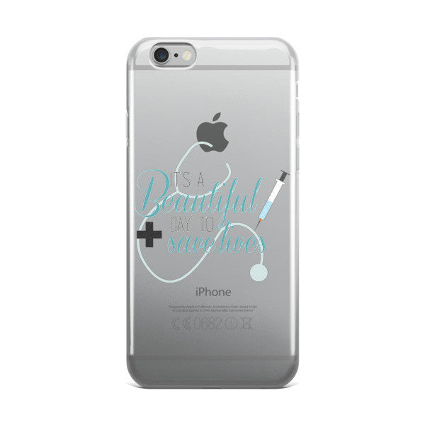 Grey's Anatomy It's A Beautiful Day To Save Lives iPhone case