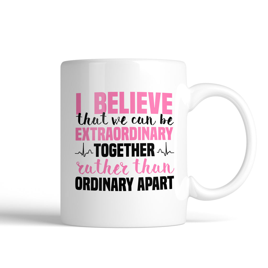Grey's Anatomy Meredith Grey House Of Candles I Believe That We Can Be Extraordinary Together Mug