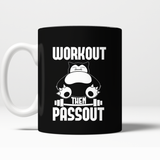 Pokemon Workout Then Passout Mug - NerdKudo - 2