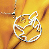 925 Sterling Silver Pokemon Pikachu Inspired Necklace - NerdKudo - 1