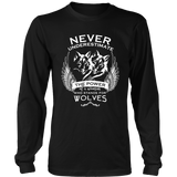 Never Underestimate The Power of A Woman Who Stands For Wolves Shirt - NerdKudo - 4