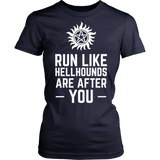 Supernatural Run Like Hellhounds Are After You Shirt Workout Tanks - NerdKudo - 13