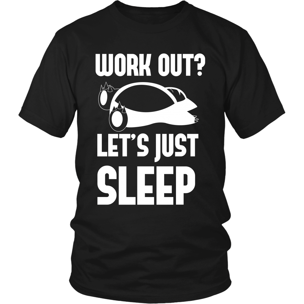 Pokemon Work Out Let's Just Sleep Shirt - NerdKudo - 3