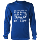 Gilmore Girls I Just Want To Read Books, Drink Coffee & Live In Stars Hollow Shirt - Added More Color - NerdKudo - 5