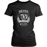 Never Underestimate The Power of A Woman Who Stands For Wolves Shirt - NerdKudo - 8
