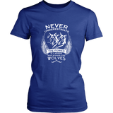 Never Underestimate The Power of A Woman Who Stands For Wolves Shirt - NerdKudo - 10