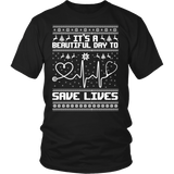 Grey's Anatomy It's A Beautiful Day To Save Lives Ugly Christmas Shirt - NerdKudo - 6