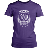 Never Underestimate The Power of A Woman Who Stands For Wolves Shirt - NerdKudo - 9