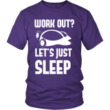 Pokemon Work Out Let's Just Sleep Shirt - NerdKudo - 2