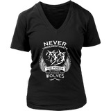 Never Underestimate The Power of A Woman Who Stands For Wolves Shirt - NerdKudo - 11