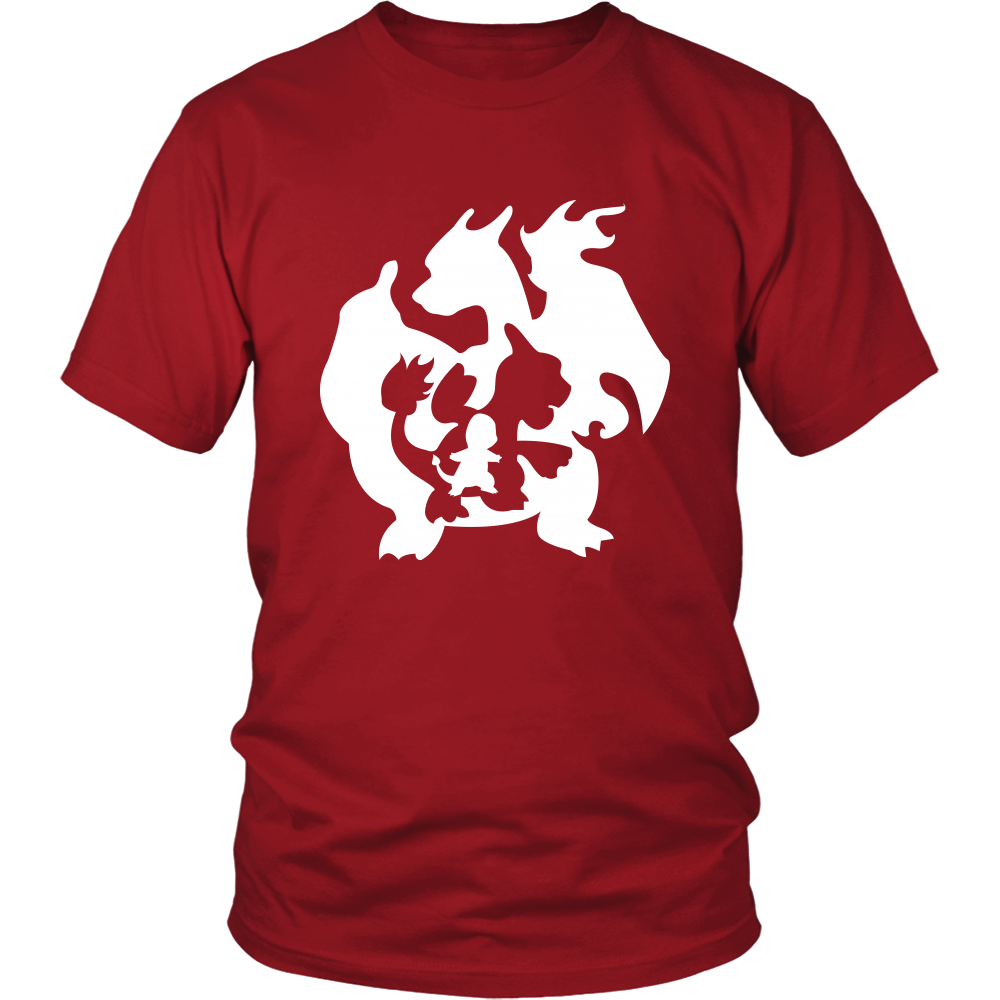 Pokemon Charmander Charmeleon Charizard Evolution Shirt - NerdKudo - 1