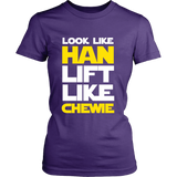 Star Wars Look Like Han Lift Like Chewie Shirt Workout Tanks - NerdKudo - 12