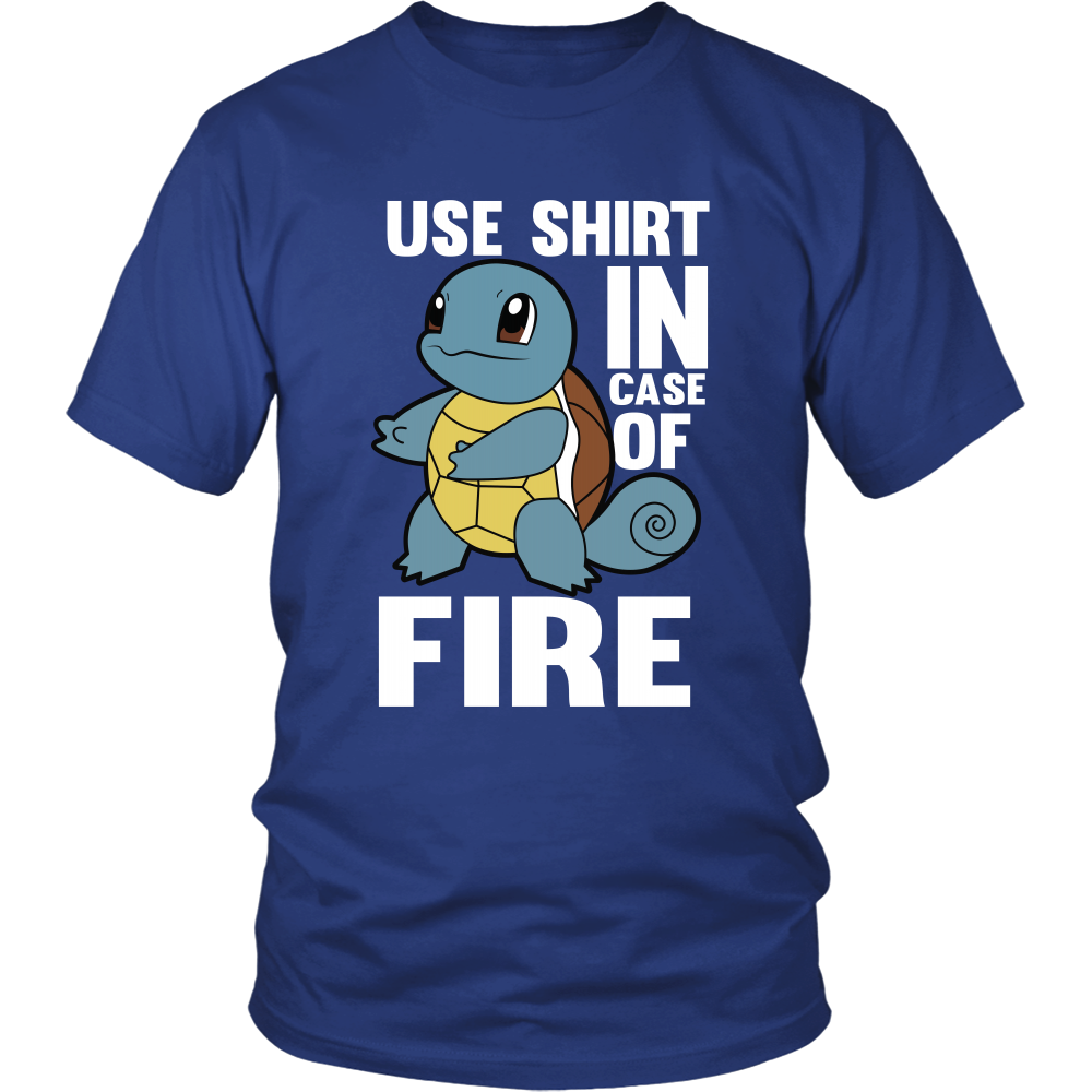 Pokemon Squirtle Use Shirt In Case Of Fire Shirt - NerdKudo - 1