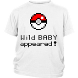 Pokemon Wild Baby Appeared District Youth Shirt - NerdKudo - 1