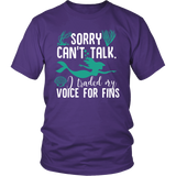 Sorry Can't Talk I Traded My Voice For Fins Shirt - NerdKudo - 2