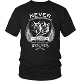 Never Underestimate The Power of A Woman Who Stands For Wolves Shirt - NerdKudo - 3