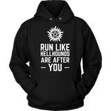 Supernatural Run Like Hellhounds Are After You Shirt Workout Tanks - NerdKudo - 7