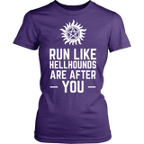 Supernatural Run Like Hellhounds Are After You Shirt Workout Tanks - NerdKudo - 12