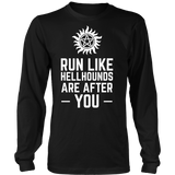 Supernatural Run Like Hellhounds Are After You Shirt Workout Tanks - NerdKudo - 6