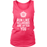 Supernatural Run Like Hellhounds Are After You Shirt Workout Tanks - NerdKudo - 10