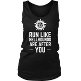 Supernatural Run Like Hellhounds Are After You Shirt Workout Tanks - NerdKudo - 9
