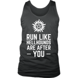 Supernatural Run Like Hellhounds Are After You Shirt Workout Tanks - NerdKudo - 5