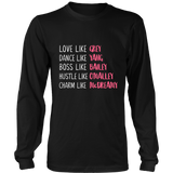 Grey's Anatomy Love Like Grey Dance Like Yang Boss Like Bailey Hustle Like O'Malley Charm Like McDreamy Shirt - NerdKudo - 4