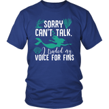Sorry Can't Talk I Traded My Voice For Fins Shirt - NerdKudo - 1