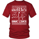 Grey's Anatomy It's A Beautiful Day To Save Lives Ugly Christmas Shirt - NerdKudo - 4