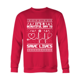 Grey's Anatomy It's A Beautiful Day To Save Lives Ugly Christmas Shirt - NerdKudo - 2