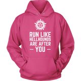Supernatural Run Like Hellhounds Are After You Shirt Workout Tanks - NerdKudo - 8