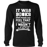 It Was Books That Made Me Feel That Perhaps I Wasn't Completely Alone Harry Potter Hunger Games Fandom Shirt - NerdKudo - 5
