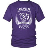 Never Underestimate The Power of A Woman Who Stands For Wolves Shirt - NerdKudo - 2