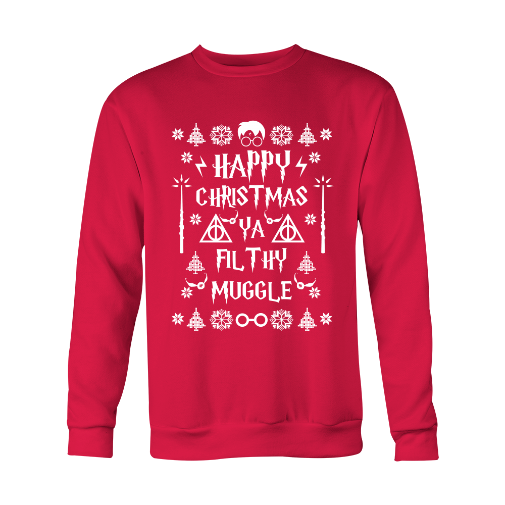 Harry Potter Happy Christmas Ya Filthy Muggle Ugly Sweater Shirt - NerdKudo - 2